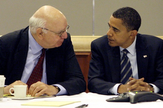Volcker Obama - Associated Press