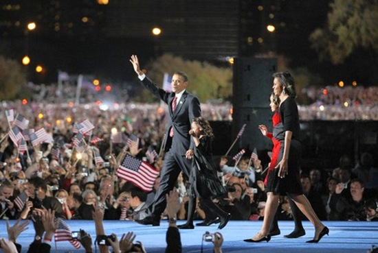 Obama Wins - Tribune photo by Nuccio DiNuzzo / November 4, 2008