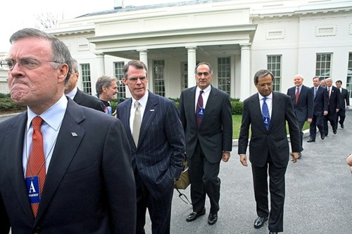 Wall ST Journal - Bankers leaving white house